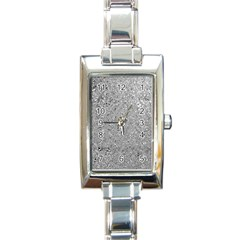Abstract Flowing And Moving Liquid Metal Rectangle Italian Charm Watch