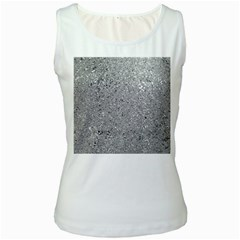 Abstract Flowing And Moving Liquid Metal Women s White Tank Top