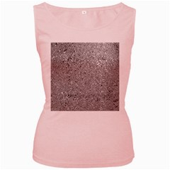 Abstract Flowing And Moving Liquid Metal Women s Pink Tank Top