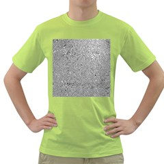 Abstract Flowing And Moving Liquid Metal Green T Shirt