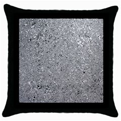 Abstract Flowing And Moving Liquid Metal Throw Pillow Case (Black)