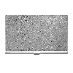 Abstract Flowing And Moving Liquid Metal Business Card Holders