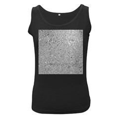Abstract Flowing And Moving Liquid Metal Women s Black Tank Top