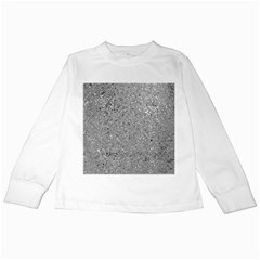 Abstract Flowing And Moving Liquid Metal Kids Long Sleeve T-Shirts
