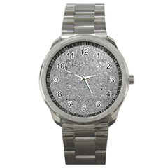 Abstract Flowing And Moving Liquid Metal Sport Metal Watch