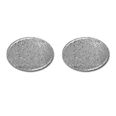 Abstract Flowing And Moving Liquid Metal Cufflinks (Oval)