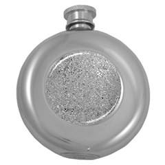 Abstract Flowing And Moving Liquid Metal Round Hip Flask (5 Oz)