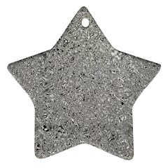 Abstract Flowing And Moving Liquid Metal Star Ornament (two Sides)