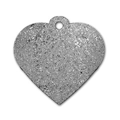 Abstract Flowing And Moving Liquid Metal Dog Tag Heart (one Side)