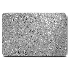 Abstract Flowing And Moving Liquid Metal Large Doormat