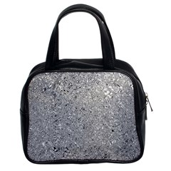 Abstract Flowing And Moving Liquid Metal Classic Handbags (2 Sides)