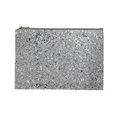 Abstract Flowing And Moving Liquid Metal Cosmetic Bag (large)
