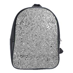 Abstract Flowing And Moving Liquid Metal School Bags(Large)
