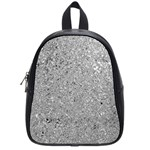 Abstract Flowing And Moving Liquid Metal School Bags (Small)  Front