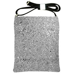Abstract Flowing And Moving Liquid Metal Shoulder Sling Bags