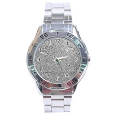 Abstract Flowing And Moving Liquid Metal Stainless Steel Analogue Watch