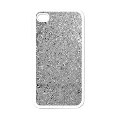 Abstract Flowing And Moving Liquid Metal Apple iPhone 4 Case (White)