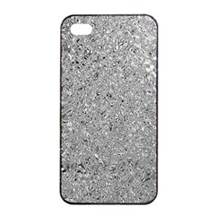 Abstract Flowing And Moving Liquid Metal Apple Iphone 4/4s Seamless Case (black)