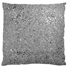 Abstract Flowing And Moving Liquid Metal Large Cushion Case (two Sides)