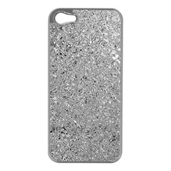 Abstract Flowing And Moving Liquid Metal Apple Iphone 5 Case (silver)