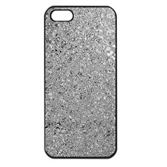 Abstract Flowing And Moving Liquid Metal Apple Iphone 5 Seamless Case (black)