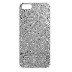 Abstract Flowing And Moving Liquid Metal Apple Iphone 5 Seamless Case (white)