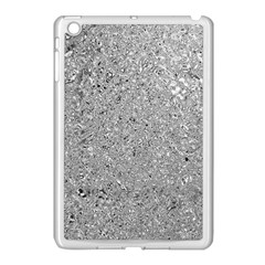 Abstract Flowing And Moving Liquid Metal Apple Ipad Mini Case (white)
