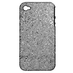 Abstract Flowing And Moving Liquid Metal Apple iPhone 4/4S Hardshell Case (PC+Silicone)