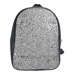 Abstract Flowing And Moving Liquid Metal School Bags (xl)