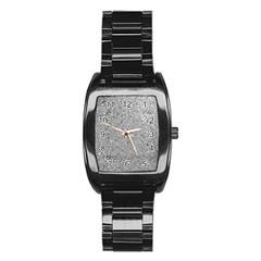 Abstract Flowing And Moving Liquid Metal Stainless Steel Barrel Watch
