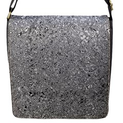 Abstract Flowing And Moving Liquid Metal Flap Messenger Bag (S)