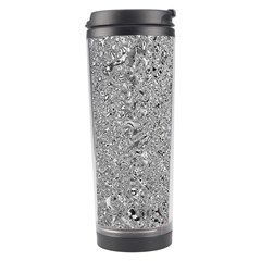 Abstract Flowing And Moving Liquid Metal Travel Tumbler