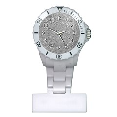 Abstract Flowing And Moving Liquid Metal Plastic Nurses Watch