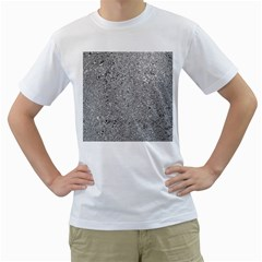 Abstract Flowing And Moving Liquid Metal Men s T Shirt (white)