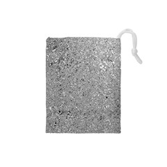 Abstract Flowing And Moving Liquid Metal Drawstring Pouches (small)