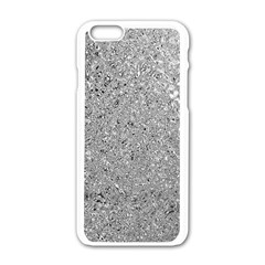 Abstract Flowing And Moving Liquid Metal Apple Iphone 6/6s White Enamel Case