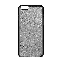 Abstract Flowing And Moving Liquid Metal Apple Iphone 6/6s Black Enamel Case