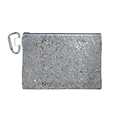 Abstract Flowing And Moving Liquid Metal Canvas Cosmetic Bag (M)