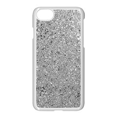 Abstract Flowing And Moving Liquid Metal Apple Iphone 7 Seamless Case (white)