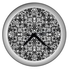 Modern Oriental Pattern Wall Clocks (Silver)