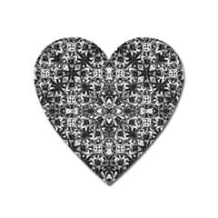 Modern Oriental Pattern Heart Magnet
