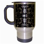 Modern Oriental Pattern Travel Mug (Silver Gray) Left