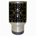 Modern Oriental Pattern Travel Mug (Silver Gray) Center