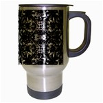 Modern Oriental Pattern Travel Mug (Silver Gray) Right