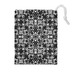Modern Oriental Pattern Drawstring Pouches (Extra Large)