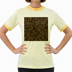 A Complex Maze Generated Pattern Women s Fitted Ringer T-Shirts