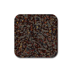 A Complex Maze Generated Pattern Rubber Square Coaster (4 Pack)
