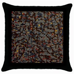 A Complex Maze Generated Pattern Throw Pillow Case (black)