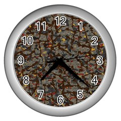 A Complex Maze Generated Pattern Wall Clocks (silver)