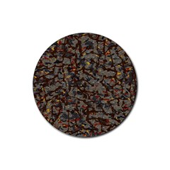 A Complex Maze Generated Pattern Rubber Round Coaster (4 Pack)